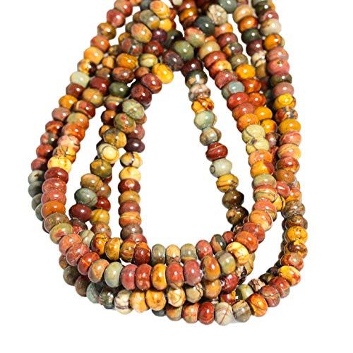 RED Creek Jasper 8mm Rondelle Beads
