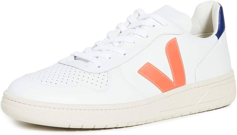 VEJA V-10 Zapatillas Moda Hommes Blanco/Azul/Naranja Zapatillas Bajas