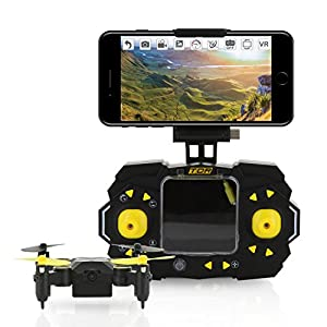 Tenergy TDR Sky Beetle Mini RC Drone with Camera Live Video, 2.4GHz FPV WiFi App Controlled Quadcopter Drone with Docking Transmitter, Auto Hovering, One-key Stunt Moves