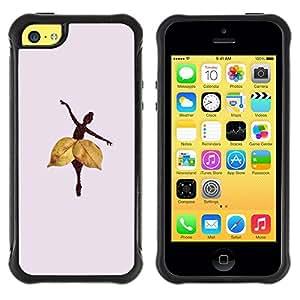 "Pulsar iFace Series Tpu silicona Carcasa Funda Case para Apple iPhone 5C , Hoja del otoño profundo Lila"""