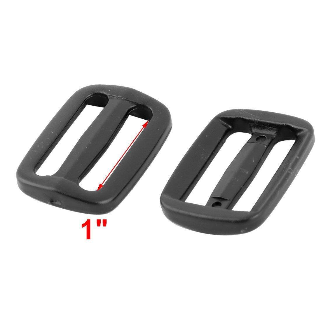EbuyChX Plastic Travel Backpack Belt Strap Tri Glide Slide Adjustable Buckle 12pcs Black