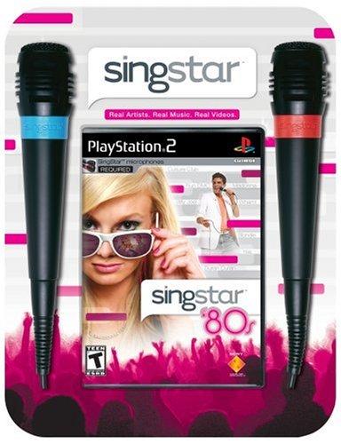 SingStar 80's Bundle (Includes 2 Microphones) - PlayStation - Singstar Playstation 2 Bundle