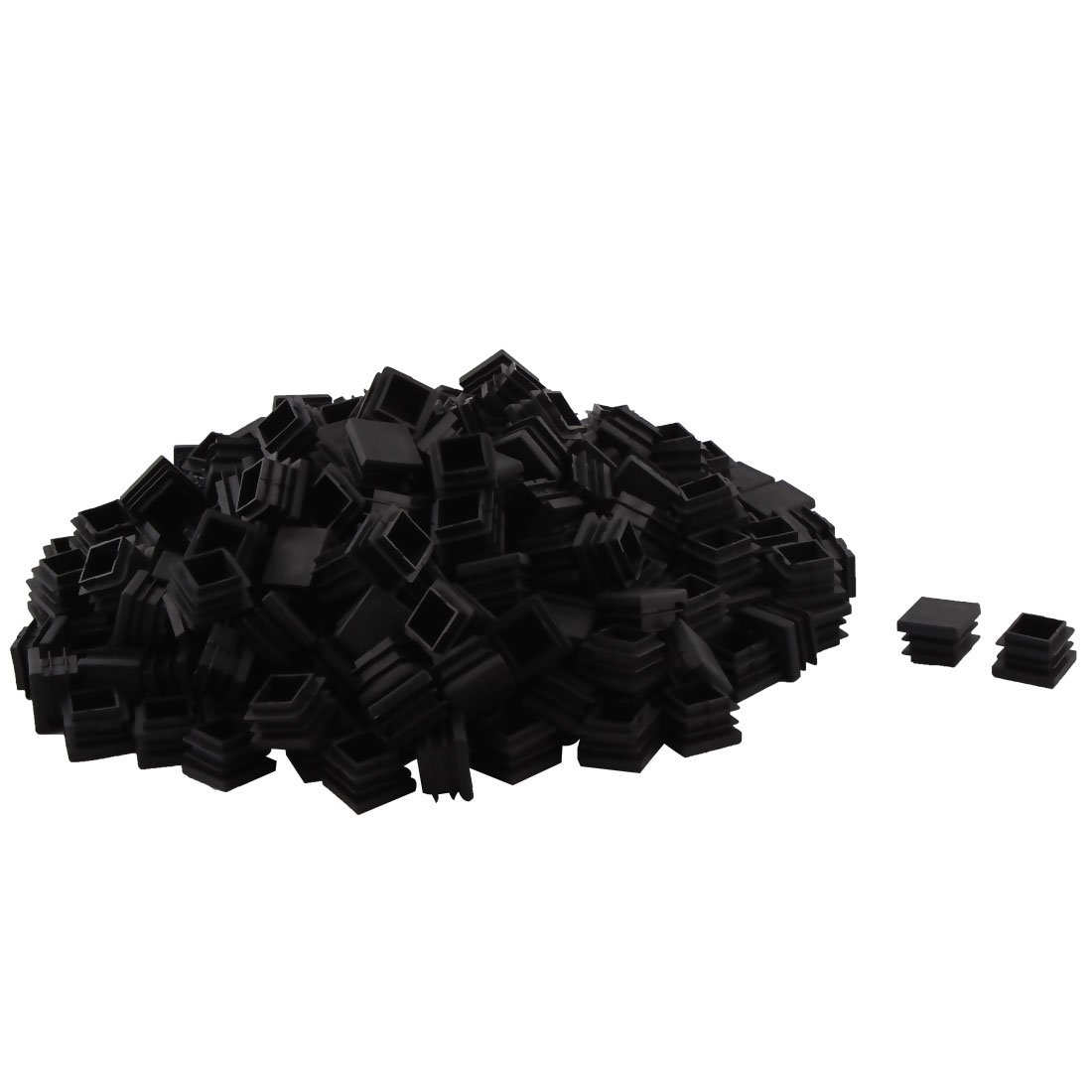 OKSLO Plastic sruare table chair feet tube insert caps covers black 22 x 22mm 250pcs