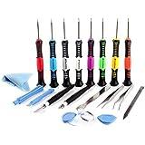 Neuftech® Kit 20pcs reparación de herramientas destornillador para reparar Móvil iPhone 3GS 4 4S 5 5S,iPad 1,2,3,4, iPod Touch,Samsung S2 S3 S4 S5 S6 ,Nokia, Huawei, LG, Motorola
