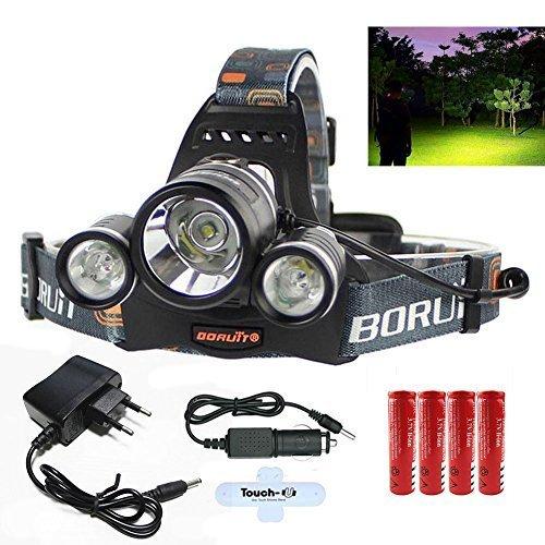 JULI-5000LM 3x CREE T6 LED Stirnlampe Fahrad Front Motorrad Lampe Scheinwerfer Scheinwerfer Camping Hiking Licht Taschenlampe Kopflampe