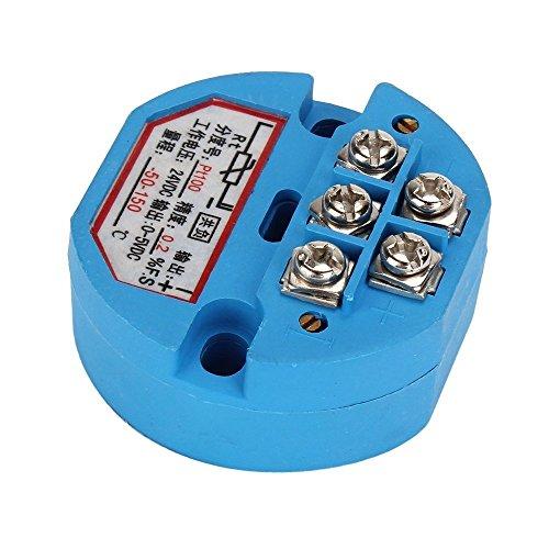 0-5V 24V DC RTD PT100 Temperature Sensors Transmitter Blue - 1