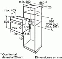Bosch HBA22R251E - Horno Hba22R251E Multifunción: Amazon.es ...