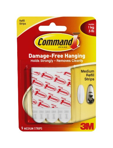 Command Medium Mounting Refill Strips, 9-Strip