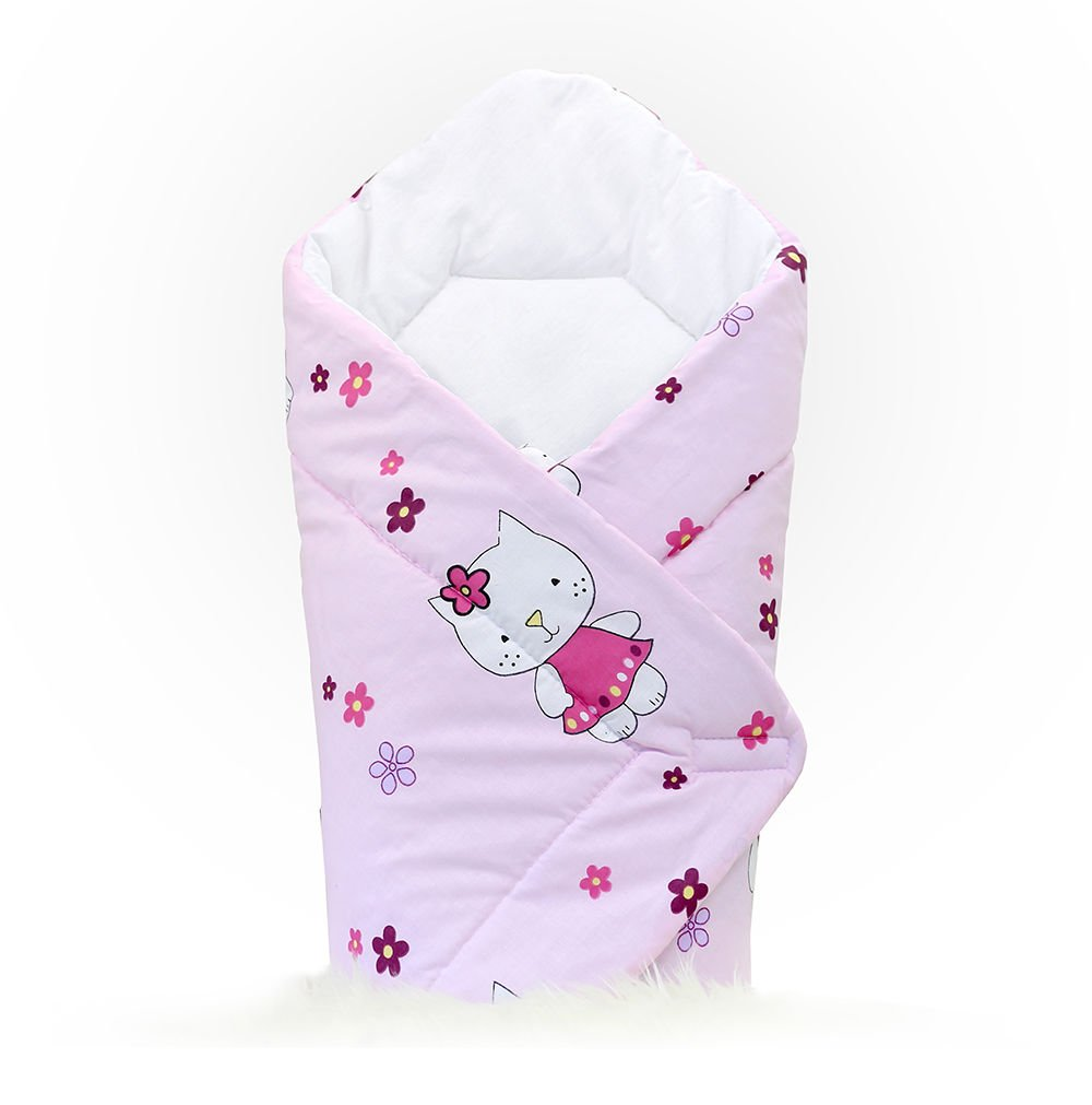 BABY SWADDLE WRAP NEWBORN INFANT BEDDING BLANKET COTTON SLEEPING BAG COTTON WRAP (Owls cream) Babymam