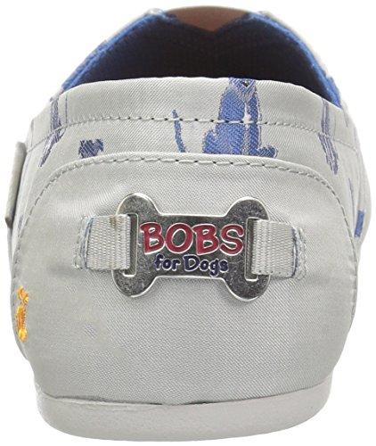 Skechers Bobs Womens Bobs Plush-sit Rimanere Piatto Grigio Chiaro