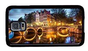 Hipster personalize Samsung Galaxy S5 Cases amsterdam canals PC Black for Samsung S5