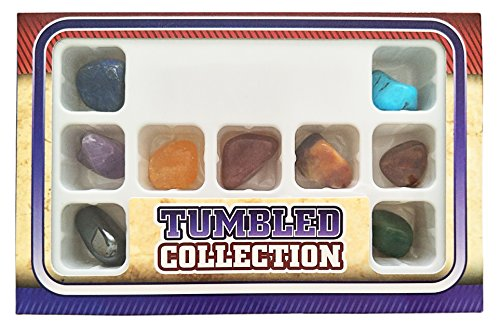 Chakra Stones Collection Set of 12, Tumbled and Well Polished Healing Crystals / Gemstones
