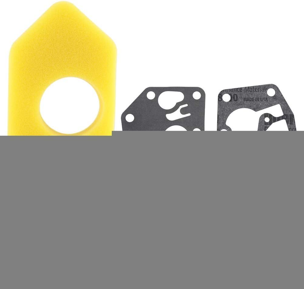 281028 795083 Kit de Joint de Petits Moteurs 495770 Raguso Kit de Remplacement de Bougie de Filtre /à air de Joint de Membrane de carburateur pour Briggs /& Stratton 272372