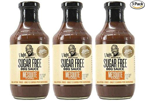 G Hughes Sugar Free Mesquite BBQ Sauce 18 oz
