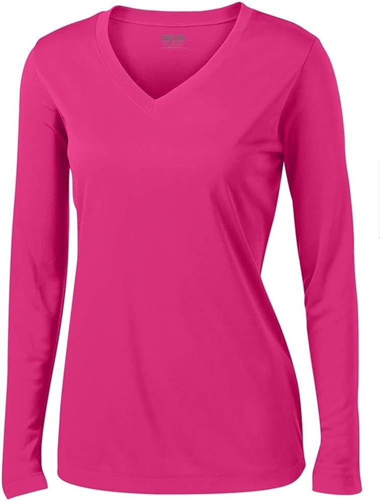 Joe's USA - Ladies Long Sleeve Moisture Wicking Athletic Shirts Sizes XS-4XL