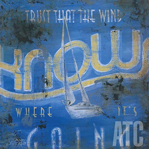 ArtToCanvas 24W x 24H inches : Trust That The Wind Knows Where It's Going by Rodney White - Canvas