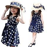 Lowpricenice(TM) 1PC Kids Children Clothing Polka Dot Girl Chiffon Sundress Dress