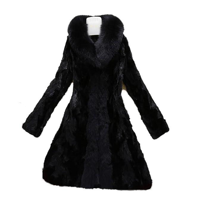 new product 33e9e bf150 Fur Story FS16172 Lungo Reale Visone Cappotto Di Pelliccia ...