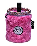 Little Kid Sized I LOVE Pink Chalk Bag For 3-8 Year Olds (USA made) by Pure Grit