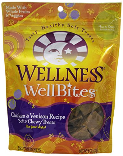 Wellpet 634377 8-Pack Wellbites For Pets, Chicken And Venison, 8-Ounce