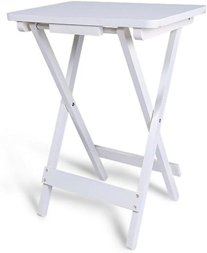 Tavolo Pieghevole Con Vassoio.Folding Table Nan Tavolino Con Vassoio In Bianco Tavolo Pieghevole In Legno 45 X 30 X 61 Cm Vassoio Adatto Per Giardino Balcone E Terrazza Amazon It Casa E Cucina