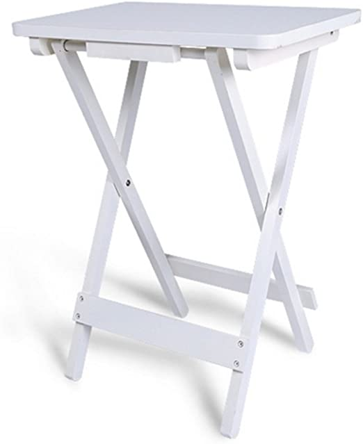 Folding table Nan Mesa Auxiliar con Bandeja en Blanco | Mesa ...