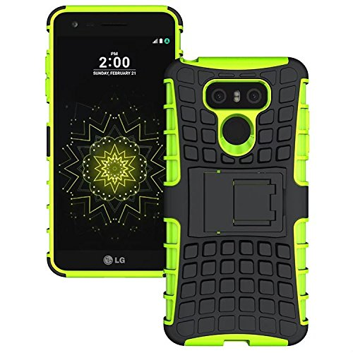 LG G6 Case, Beimu Premium Bumper Kickstand Feature Slim 2in1 PC+Silicon Shockproof Hybrid Protective Case High Impact Tough Rugged Armor Defender Cover For LG G6 (2017)