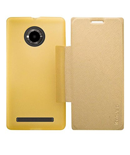 the latest 21602 b8420 COVERNEW Flip Cover for YU Yuphoria YU5010 - Golden: Amazon.in ...