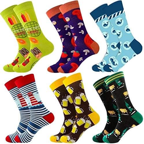 6 paar herenokken Christmas Astronauten Universe Cotton Happy Socks Four seasonsunisex and same style