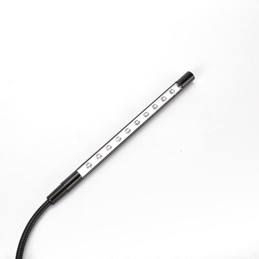 Flexible USB Portable Super Bright LED Light for Laptop or Computer Black