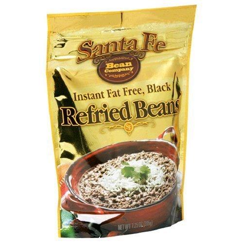 Santa Fe Instant Fat Free Black Refried Beans 7.25 Oz (Pack of 3)