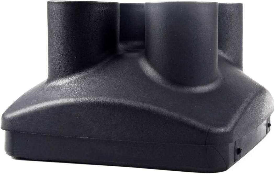 beler Connecteur de tuyau d/échappement noir /à 4 sorties Couvercle de sortie dair /à quatre trous du chauffage de stationnement 135 42mm 80