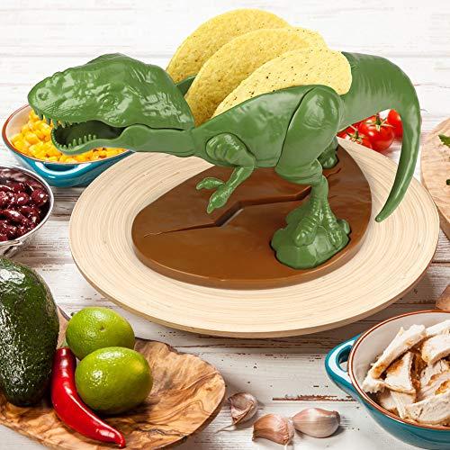 (Set) Nachosaurus w/Dip Bowl & Tacosaurus Rex Holder - Prehistoric Appetite by Barbuzzo (Image #6)