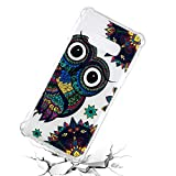 Galaxy S10e Case, for S10e 5.8'', MerKuyom Lightweight [Clear Crystal Transparent] Slim-Fit Flexible Gel Soft TPU Case Cover for Samsung Galaxy S10e 5.8-inch, W/Stylus (Flower Owl Print)