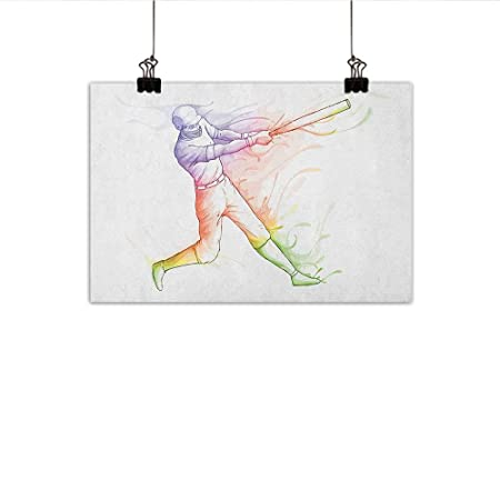 Awe Inspiring Baseball Abstract Painting Baseball Player Standing At Home Beutiful Home Inspiration Cosmmahrainfo