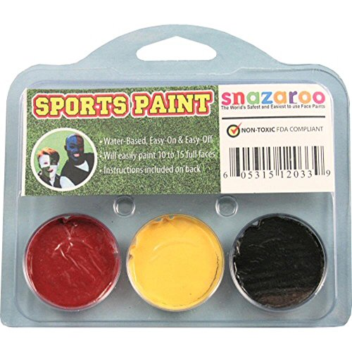 Sports Makeup Kit Bright Red, Black, Bright Yellow ()