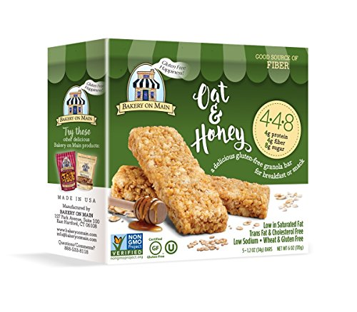 Bakery On Main Gluten-Free 4-4-8 Granola Bars, Oat & Honey, 6 Ounce Box (6 Count)