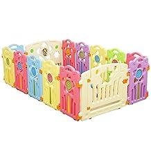 Beautylife88 Baby Kid Playpen Panel Activity Center Safety Fence Yard Pen 12+1+1