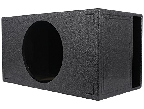 Q Power QBOMB15VL SINGLE Single 15-Inch Side Vented Speaker Box with Durable Bed Liner Spray by Q Power