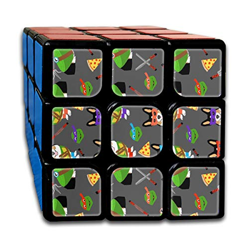 Tri Corgi Ninja Turtle - Dog, Dogs, Cartoon, Costume, Halloween Customized Speed Cube 3x3 Smooth Magic Cube Puzzle Game Brain Training Game for Adults -