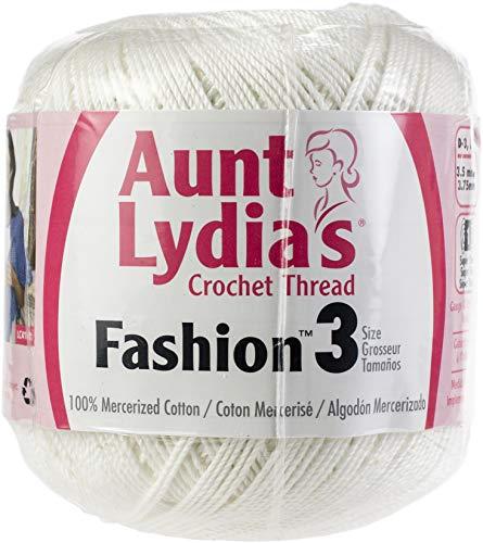 Lydia S Crochet Thread Aunt - Aunt Lydia's 96909 Fashion Crochet Thread Size 3 12/Pk-White, Pack