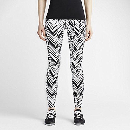 Nike Women's Legendary Freeze Frame Tight Fit Training Pants (M, White/Black)