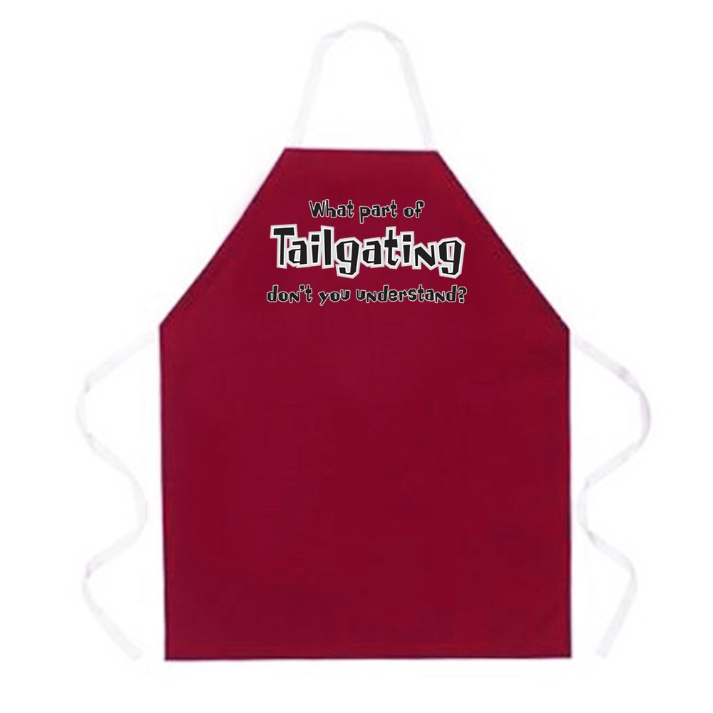 Attitude Apron What Part of Tailgating Apron One Size Fits Most Maroon
