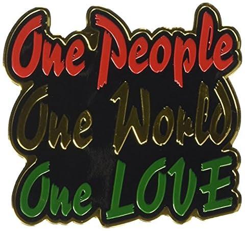 C&D Visionary Reggae & Rasta One People One World One Love Metal Sticker (Cherokee Bull Bar)