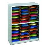 Safco Products Value Sorter Literature Organizer, 36 Compartment, Gray (7121GR)