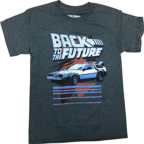 Back to The Future Vintage Distressed Delorian Youth T-Shirt