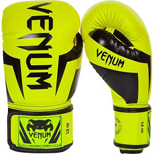 Girls Glove Elite (Venum Elite Boxing Gloves, Yellow, 16 oz)