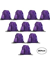 Basic Drawstring Backpack Goodie Bags,Promotional Gym Sack For Birthday Party Favor Giveaways
