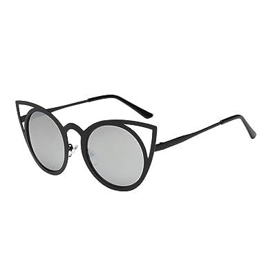 Femmes Hommes Unisex Été Glasses, Reaso Oeil de chat lunettes de soleil (Noir)