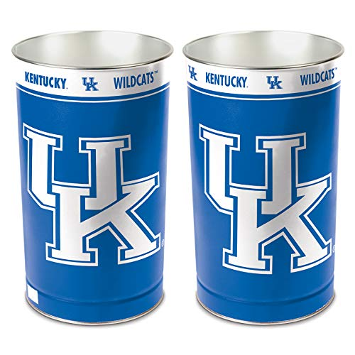 NCAA Kentucky Wildcats 15 Waste Basket, Team Color, One -